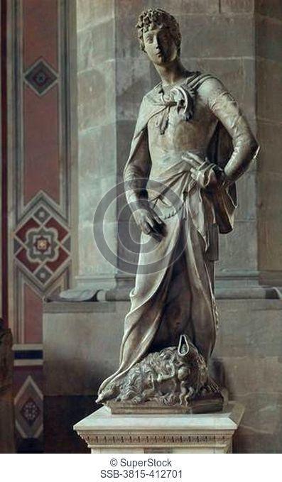 David 2 Donatello ca.1386-1466 Italian Museo Nazionale de Bargello, Florence, Italy