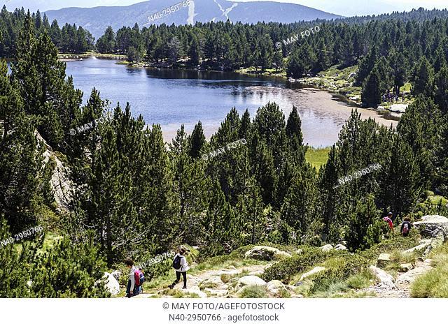 Lac des Bouillouses, Font Romeu, Tet river, Carlit lakes, France, Europe