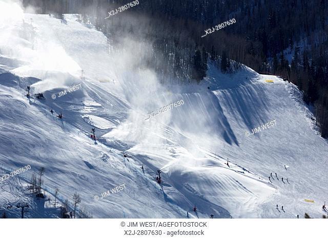 Vail, Colorado - Snowmaking at Vail Ski Resort