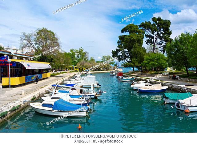 Harbour, behind the bus station, Trogir, Dalmatia, Croatia