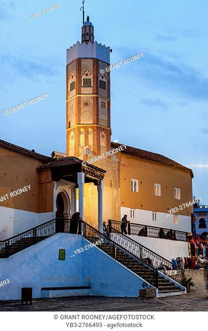 The Grande Mosque, Plaza Uta el-Hammam, Chefchaouen, Morocco