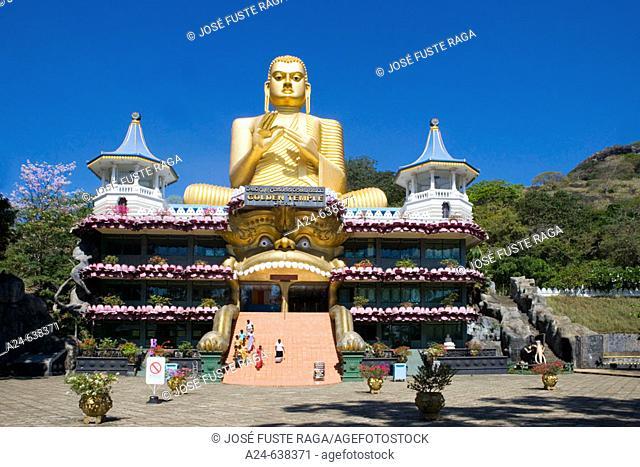 Sitting Buddha-Mihintale. Near Dambulla City. Sri Lanka. April 2007