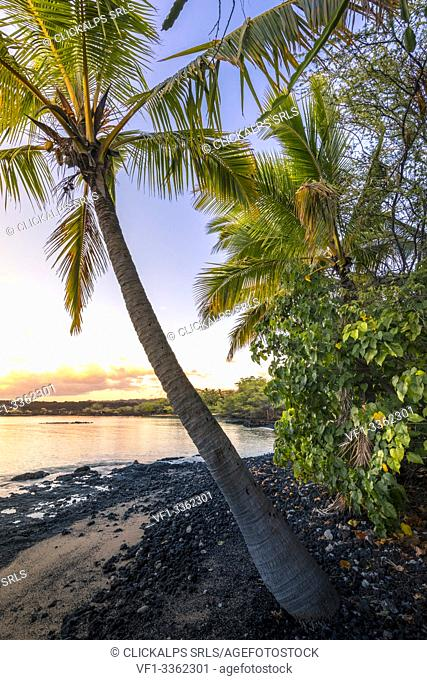 Sunset in Makena beach, Makena beach park, Maui island, Hawaii, USA