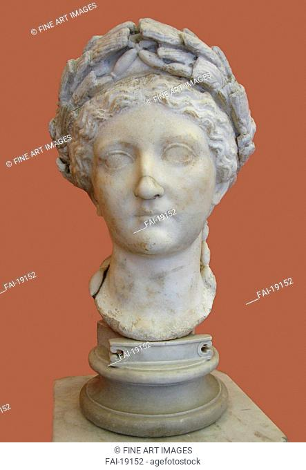 Bust of Livia Drusilla. Art of Ancient Rome, Classical sculpture . Marble. Classical Antiquities. 1st H. 1st cen. AD. State Hermitage, St. Petersburg