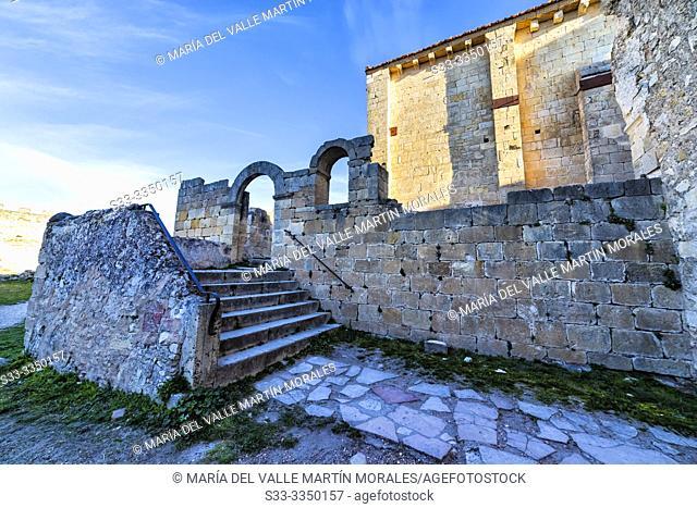 St. Frutos hermitage ruins at Duraton river gorge. Segovia. Spain. Europe