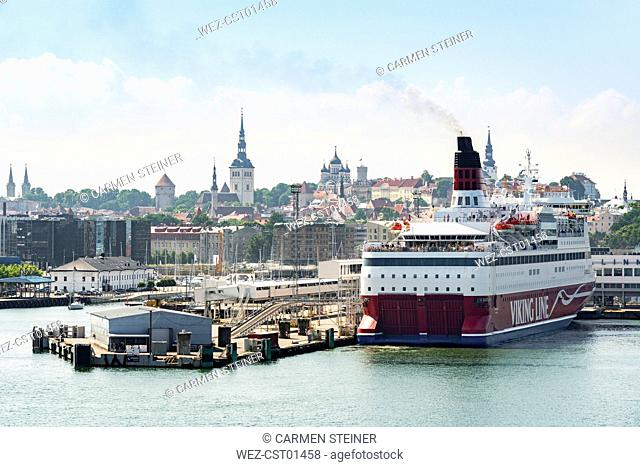 Estonia, Tallinn, Old town and harbour, ferry port