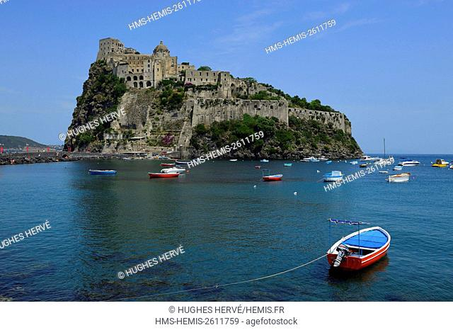 Italy, Campania, bay of Naples, Ischia island, Castello Aragonese