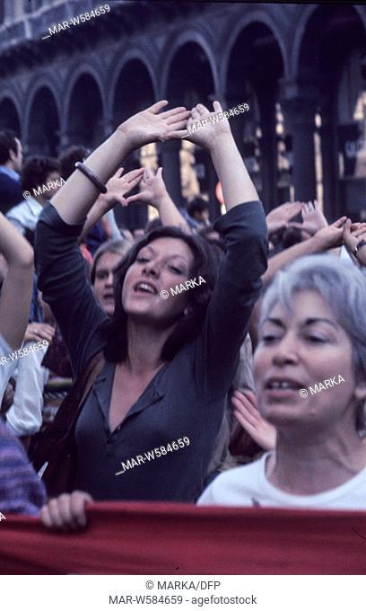 femminist demonstration, 70's