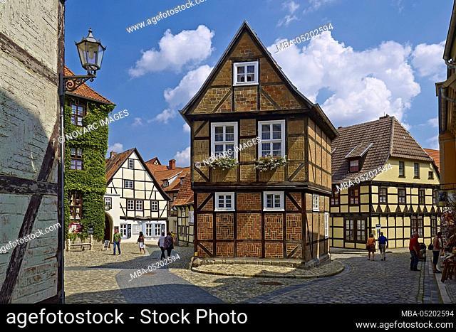 Houses in the Finkenherd, Quedlinburg, Saxony-Anhalt, Germany