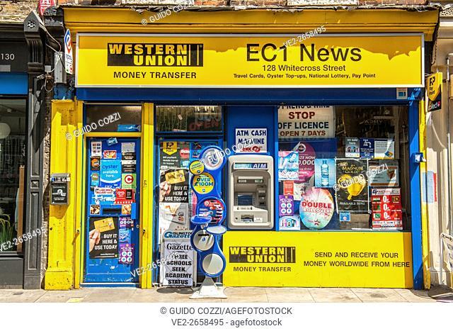 United Kingdom, England, London. Old Street, shop