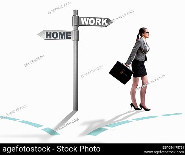 The work life or home balance business concept
