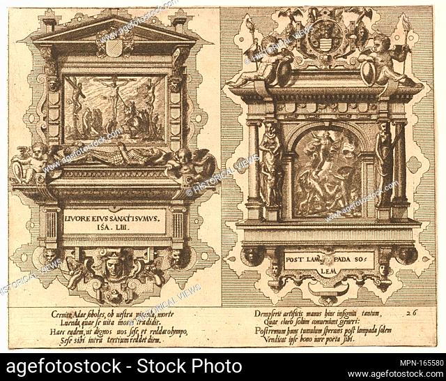 "CÅ""notaphiorum (26). Artist: Hans Vredeman de Vries (Netherlandish, Leeuwarden 1527-1606 (?) Antwerp (?)); Artist: Engraved by Johannes van Doetecum the elder..."