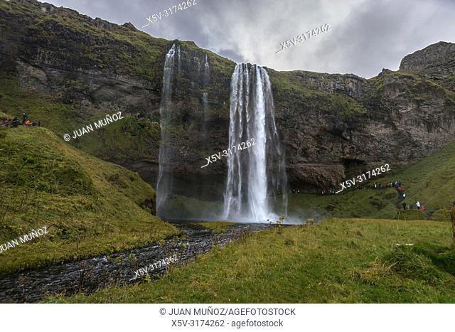 Seljalandsfoss waterfall. South Region. Iceland