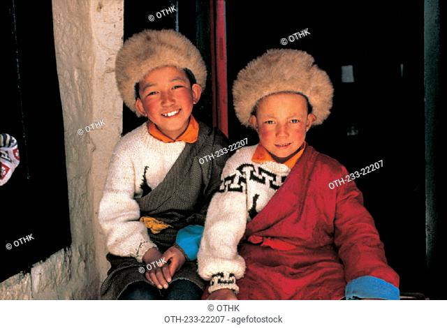 Children, Tibet, China