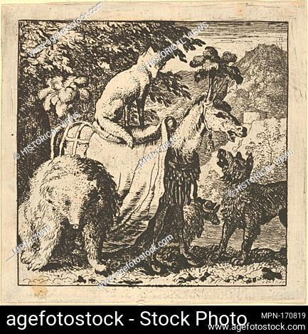 Renard Mounted on an Ass from Hendrick van Alcmar's Renard The Fox. Artist: Allart van Everdingen (Dutch, Alkmaar 1621-1675 Amsterdam); Date: 1650-75; Medium:...