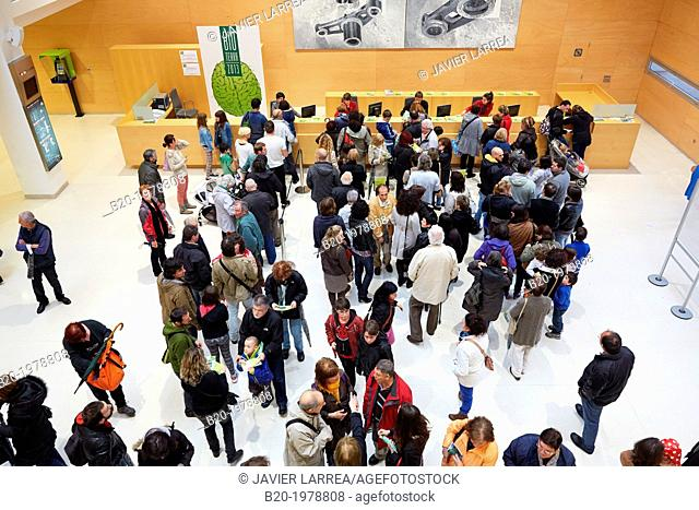Hall, Reception. Bioterra, fair of organic products, green building, renewable energy and responsible consumption, Ficoba, Irun, Gipuzkoa, Basque Country, Spain