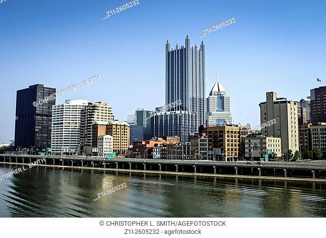 View from Station Square of Pittsburgh city Pennsylvania PA