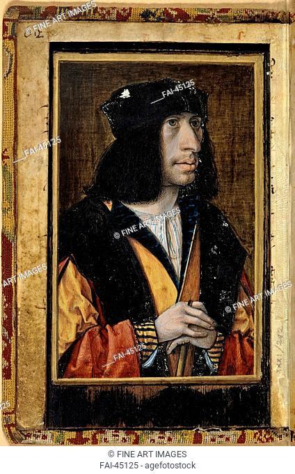 Portrait of Charles VIII of France by Perréal, Jean (c. 1460-1530)/Tempera on panel/Renaissance/France/Bibliothèque Nationale de...
