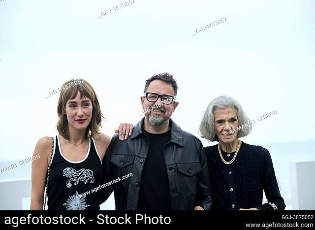 Almudena Amor, Vera Valdez, Paco Plaza attended 'The grandmother' Photocall during 69th San Sebastian International Film Festival at Kursaal Palace on September...