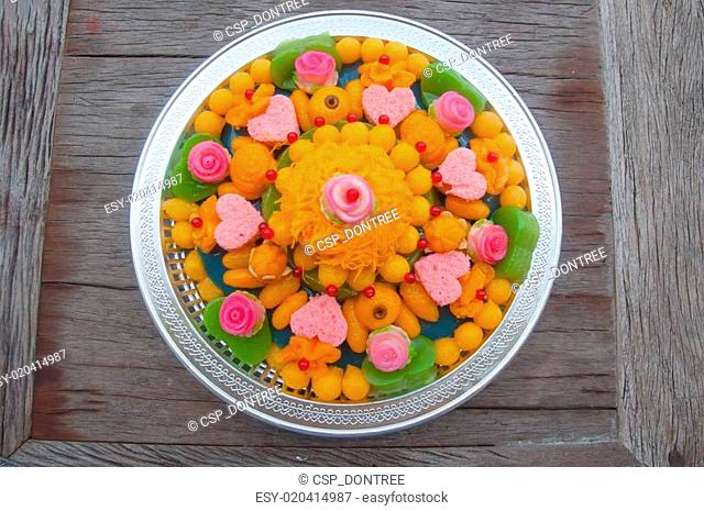 Thai dessert use for wedding ceremony with auspicious name and g
