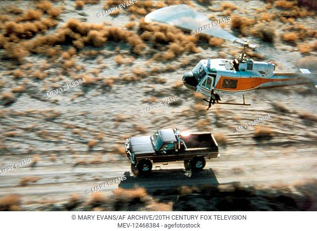 Car & Helicopter Chase Scene Television: The Fall Guy (TV-Serie) Usa 1981û1986, 04 November 1981 Ein Colt f?©r alle FÔÇ?lle (The Fall Guy, TV-Serie
