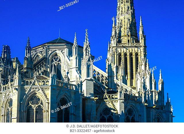 France, Nouvelle Aquitaine, Gironde, Cathedrale Saint Etienne, at Bordeaux