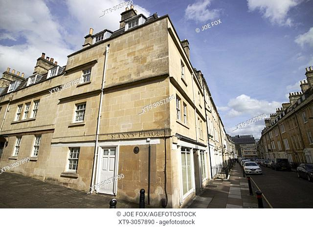 St Anns place small courtyard street leading on to New King Street Bath England UK