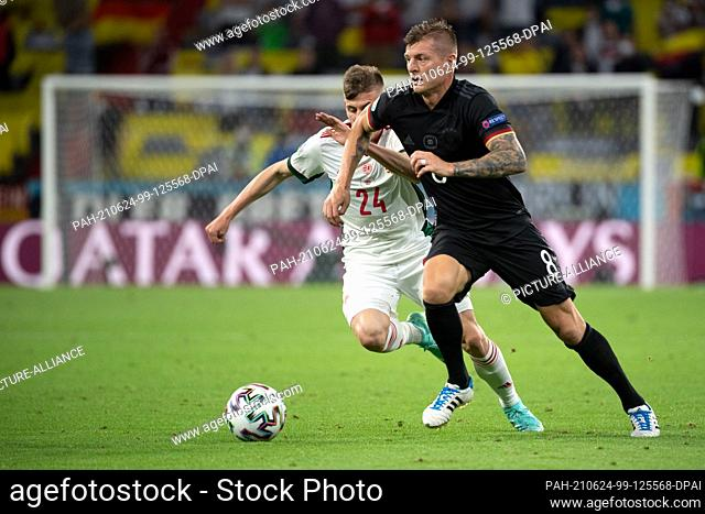 23 June 2021, Bavaria, Munich: Football: European Championship, Germany - Hungary, preliminary round, Group F, Matchday 3 in the EM Arena Munich