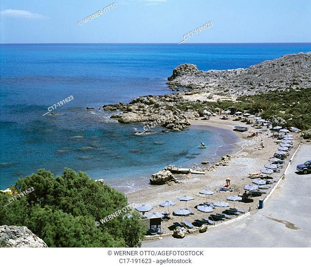 Greece, Rhodes, Dodecanese, Faliraki, Ladiko, Ladiko Bay