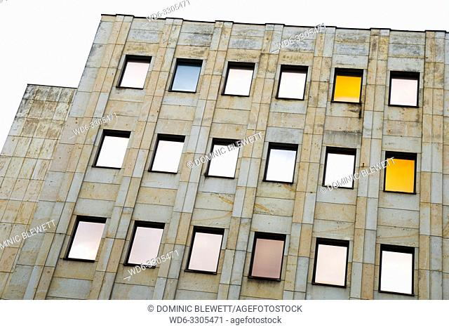 Tinted windows on an office block in Berlin, Germany