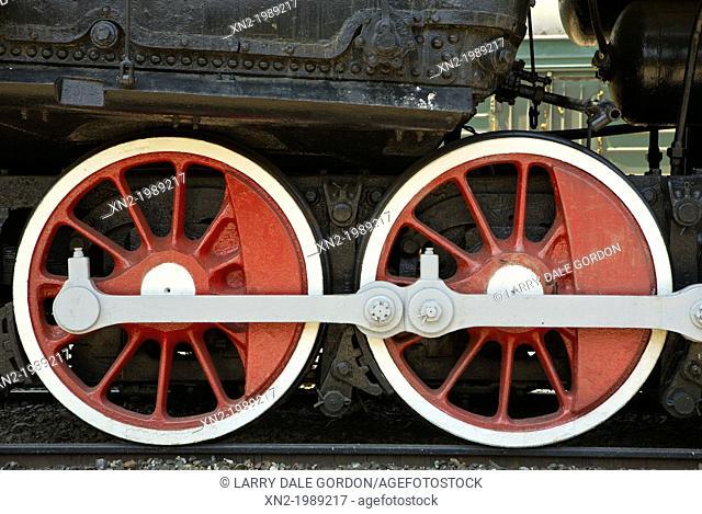 Early Trans Siberian Engine. Vladivostok. Russia