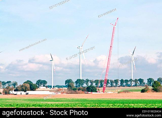 built wind power stations