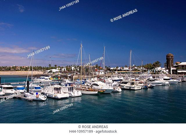 Yacht harbour, Caleta de Fustes, Fuerteventura, Canary islands, Spain, Europe, boats, Europe, Fustes, harbour, port, island, isle, Canaries