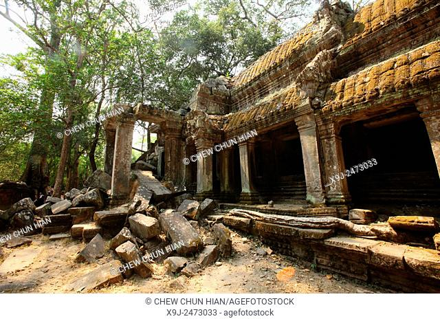 Architectural detail, Angkor Temples, Cambodia