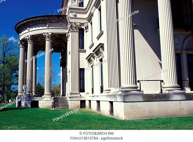 Hyde Park, Vanderbilt Mansion National Historic Site, New York, Vanderbilt Mansion an Italian Renaissance-style palace in Hyde Park, New York in the spring