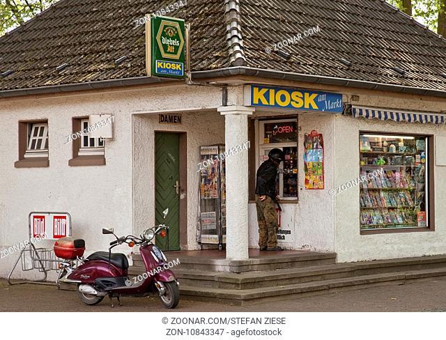 Trinkhalle am Marktplatz, Alt-Siedlung Friedrich Heinrich, Kamp-Lintfort, Ruhrgebiet, Nordrhein-Westfalen, Deutschland, Europa