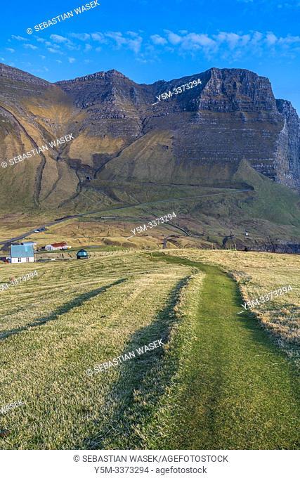 Gasadalur, Vagar, Faroe Islands, Denmark, Europe