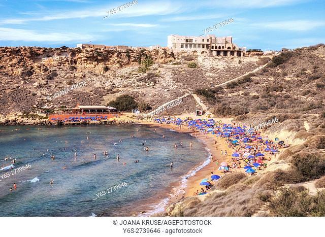 Ghajn Tuffieha Bay, Golden Bay, Malta