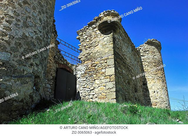 The Castle of Malasombra, XIII-XVth centuries, Estables town, Guadalajara province, Spain