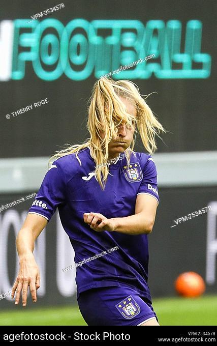 Anderlecht's Tessa Wullaert pictured during the soccer match between RSCA Anderlecht and Standard de Liege, on the first day of the Women¿øs Scooore Super...