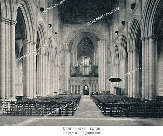 'The Nave, Ripon Cathedral', 1904. The cathedral has Grade I listed building status. From Social England, Volume VI, edited by H.D. Traill, D.C.L