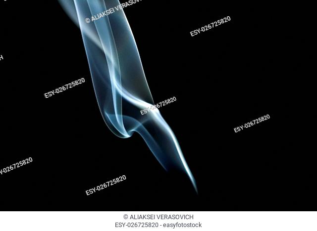 Photo of abstract smoke on black background. Studio shot