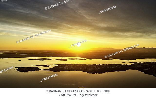 Sunset, Borgarnes, Western Iceland