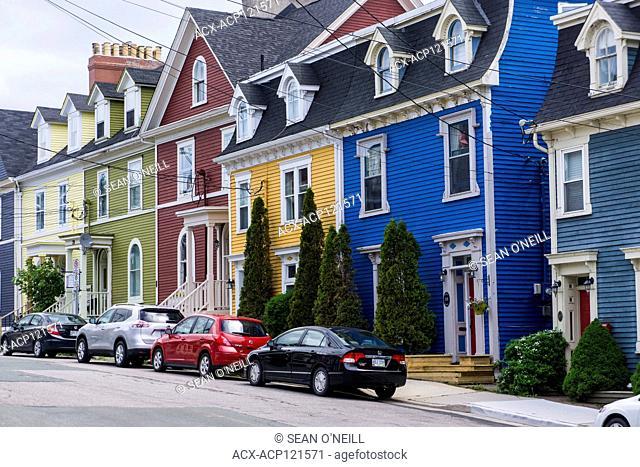 Jellybean houses, downtown St. John's, Newfoundland, Canada