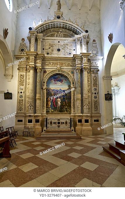 Vicenza, Veneto, Italy. Santa Corona is a Gothic-style, Roman Catholic church located in Vicenza, region of Veneto, Italy