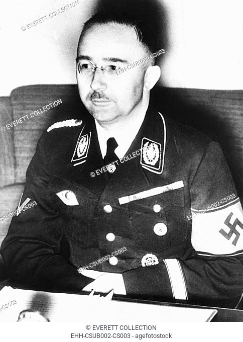 Heinrich Himmler, leader of the Nazi Germany's elite Schutzstaffel or SS. Ca. 1940. From 1939-1945, during World War II, he directed the killing of six million...