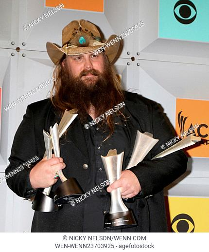 51st Academy of Country Music Awards Press Room at the MGM Grand Garden Arena on April 3, 2016 in Las Vegas, NV Featuring: Chris Stapleton Where: Las Vegas
