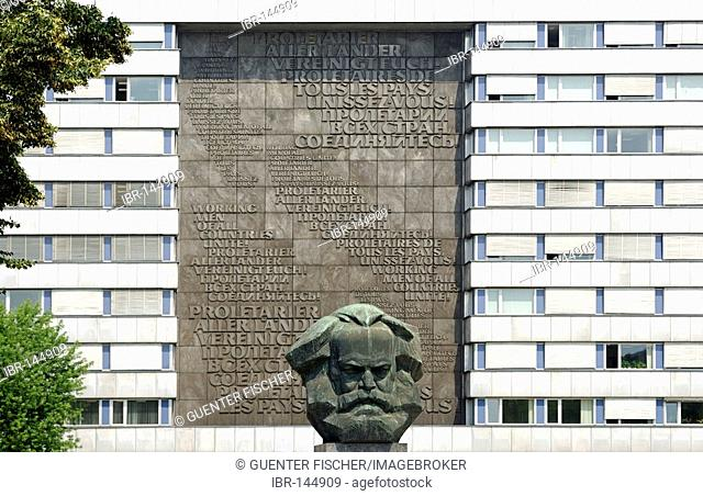 Karl Marx Monument, sculpturer Lew Kerbel, Chemnitz, Saxony, Germany