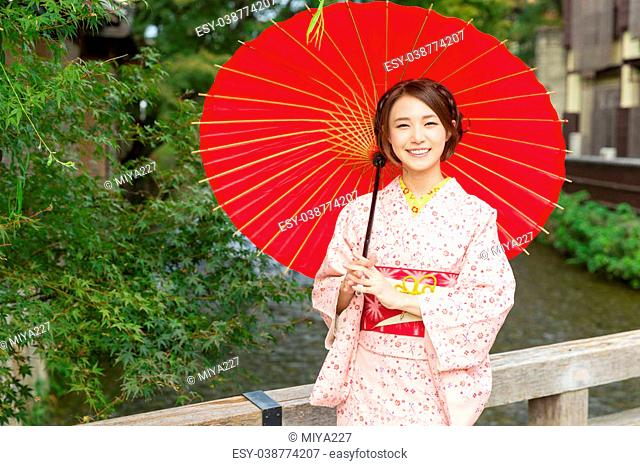 aaa7c8df72186 The traditional japanese umbrella Stock Photos and Images