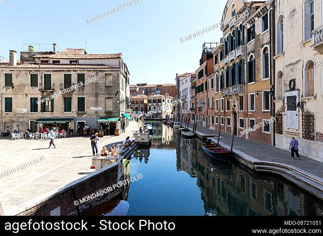 View of Campo dei Tolentini, located in the Santa Croce district. Venice (Italy), May 31st, 2021